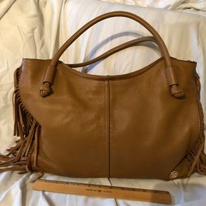 Vince Camuto Fringed Tote EUC